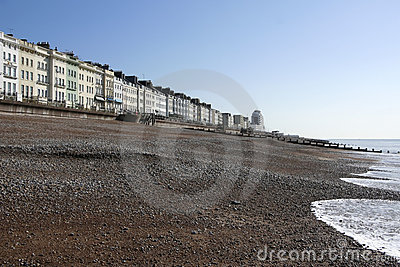 Regency architecture hastings beach sussex uk