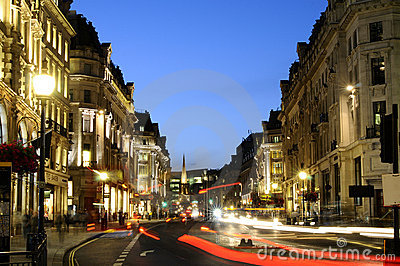 Regent Street in night Editorial Photography
