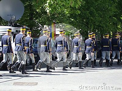 Reggimento della guardia Fotografia Editoriale