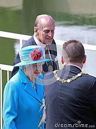 Regina Elizabeth II Fotografia Stock Editoriale