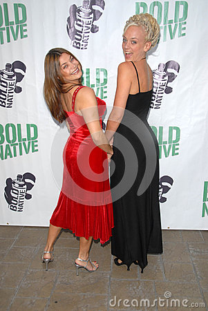 Regina Lines and Tonya Kay at the premiere of Editorial Image