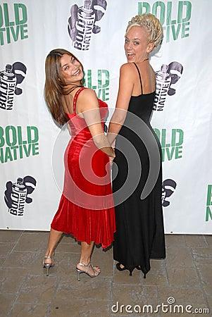Regina Lines and Tonya Kay at the premiere of  Editorial Image