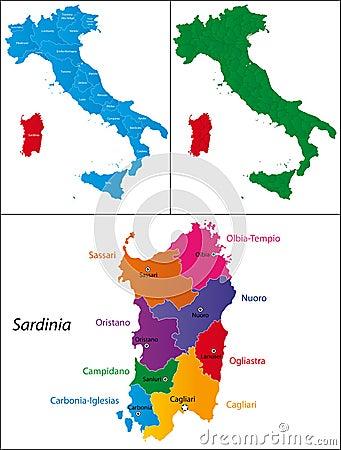 Region of Italy - Sardinia