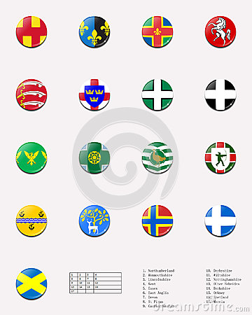 Regional and cities  flags ball of UK 1/2