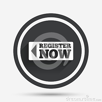 Register With Arrow Sign Icon. Membership Symbol. Stock Vector ...