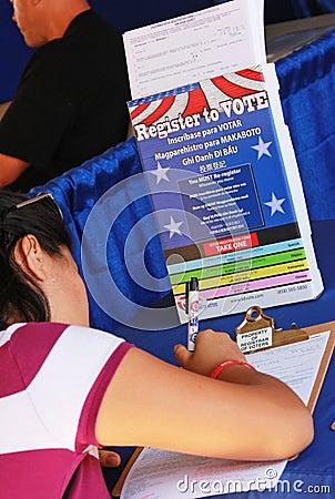 Register to Vote Editorial Photo