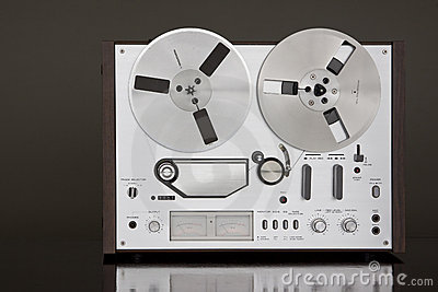 Registrador estéreo de carrete de la cubierta de cinta de la vendimia