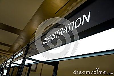 Registration Booth Sign