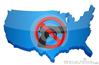 Reglementierung von Waffenbesitz wir Konzept