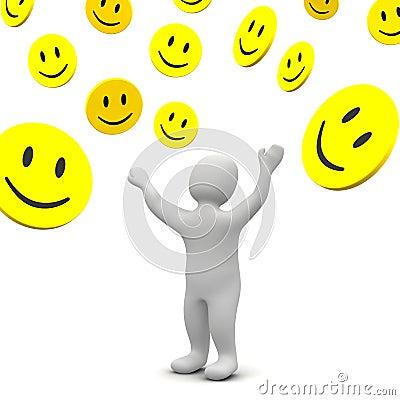 Regnen des Lächelns