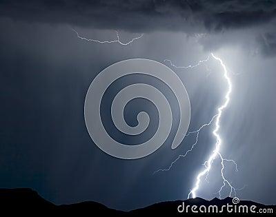 Regnig blixt
