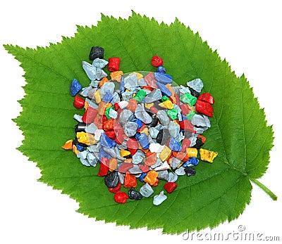 Regrind on fresh leaf