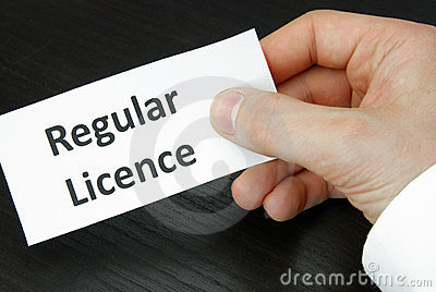 Regular Licence Sign