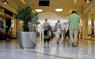 Regular mall scene