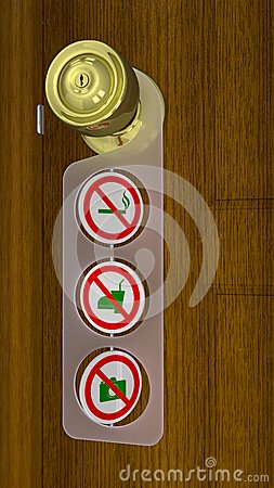 Regular Warning Sign of Shop Entry - Door Hanger Style