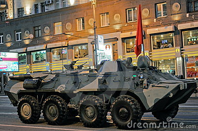 Rehearsal of parade of a victory in Moscow Editorial Stock Photo