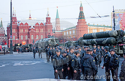 Rehearsal for the Victory Parade Editorial Stock Photo