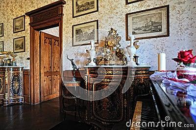 Reichenstein castle room interior details Editorial Photography