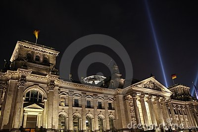 Reichstag at 20th Jubilee of the Wall s Fall Editorial Image
