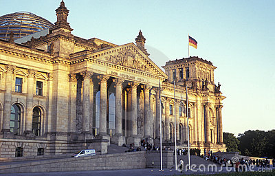 Reichstag in Berlin Editorial Stock Photo
