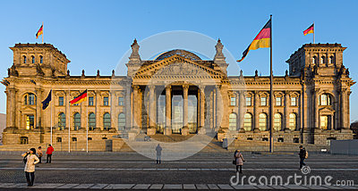 The Reichstag building at sunset Editorial Photo