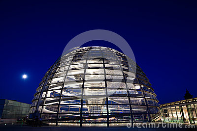 Reichstag dome exterior Editorial Stock Photo