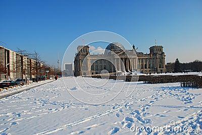 Reichstag: the German parliament, Berlin in winter