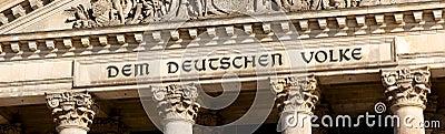 Reichstag Inscription in Berlin