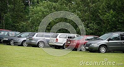 Reihe der Autos