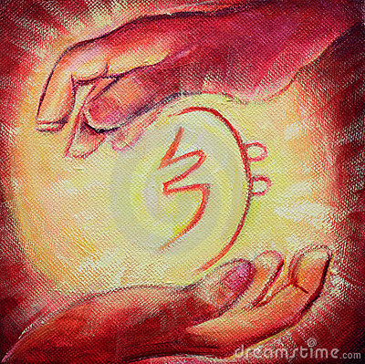 Reiki Healing Symbol and Healers hands