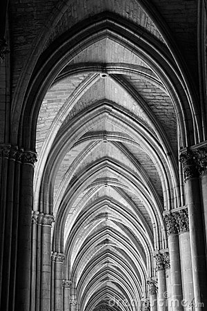 Reims Cathedral Ceiling Arches