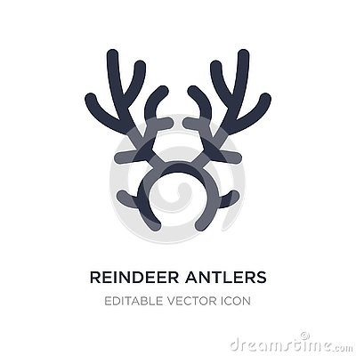 reindeer antlers icon on white background. Simple element illustration from Christmas concept Vector Illustration