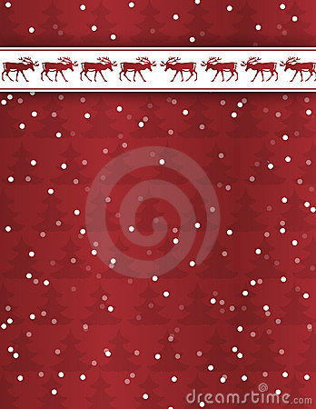 Reindeer Christmas Background