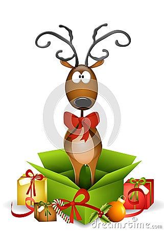 Free Reindeer Christmas Present Stock Photo - 7288620