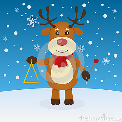 Reindeer Christmas on the Snow