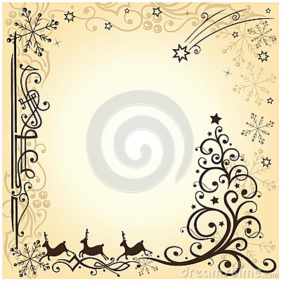 Reindeer, christmas, stars