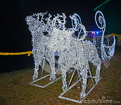 Reindeer created with light emitting diodes Editorial Stock Image