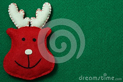 Reindeer on felt background