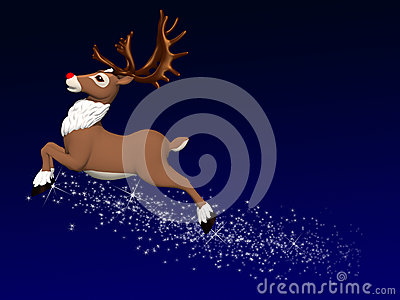 Reindeer Flying 1