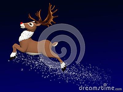 Reindeer Flying 1