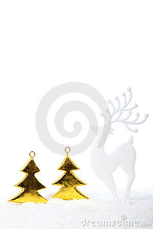 Reindeer in forest Christmas decoration