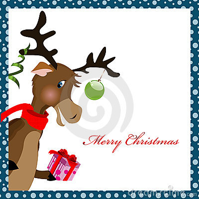 Reindeer with gift box