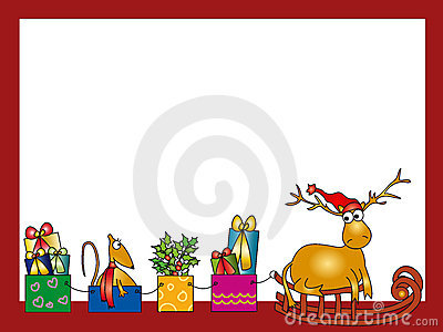Reindeer And Holiday Presents