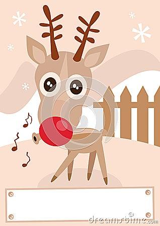 Reindeer holiday season vector illustration.