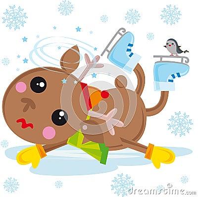 Reindeer on ice skates