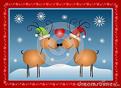 Reindeer in Love Christmas