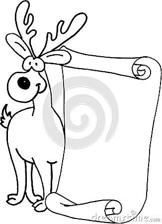 Reindeer  - message letter for Santa Claus