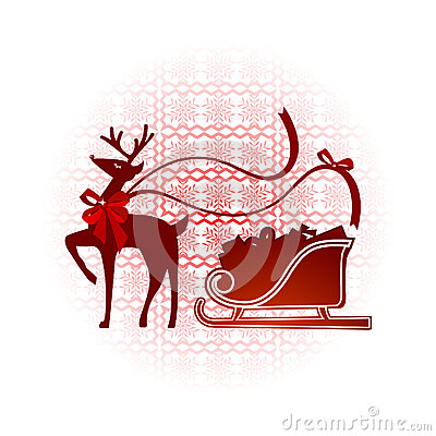 Reindeer with nordic background