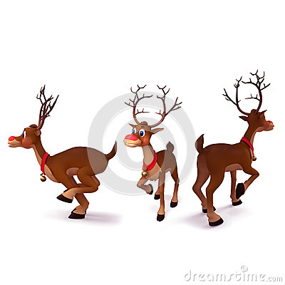 Reindeer is running