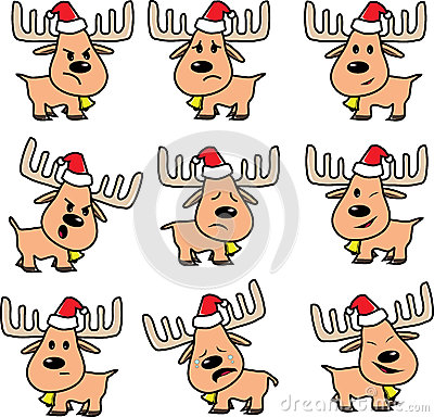 Reindeer of Santa vector